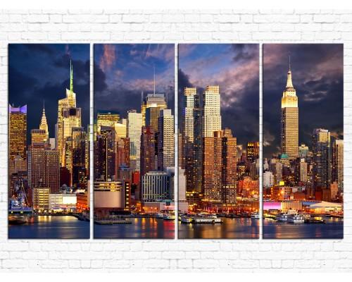 Модульная картина Город № 015Г