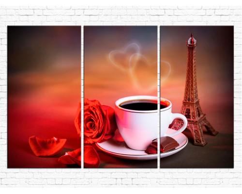 Модульная картина Кофе № 0010К
