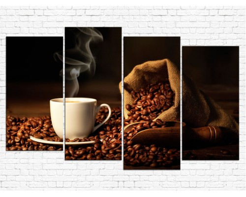 Модульная картина Кофе № 788К