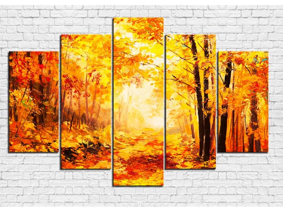 Модульная картина Осень № 0002ПЛ
