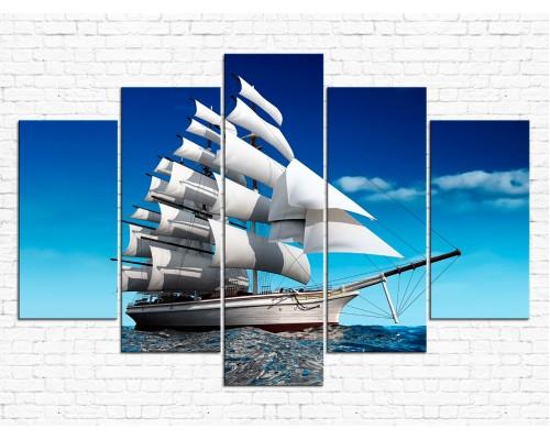 Модульная картина Корабль № 010Р