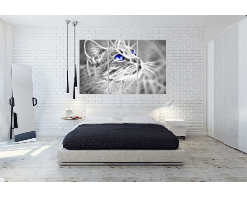 Модульная картина кошки № 678Ж