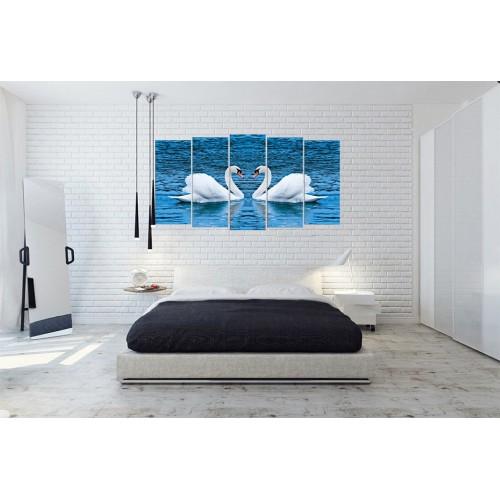 Модульная картина Лебеди № 005Ж