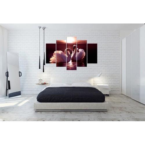 Модульная картина Лебеди № 6526Ж