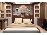 Модульная картина Леопард № 002Ж