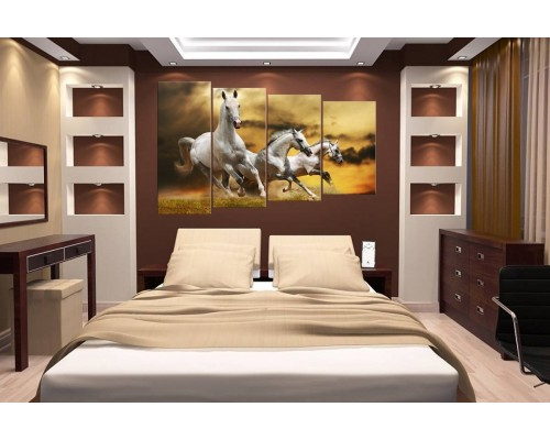 Модульная картина Лошади № 632Ж
