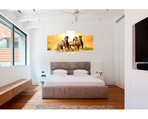 Модульная картина Лошади № 6552Ж