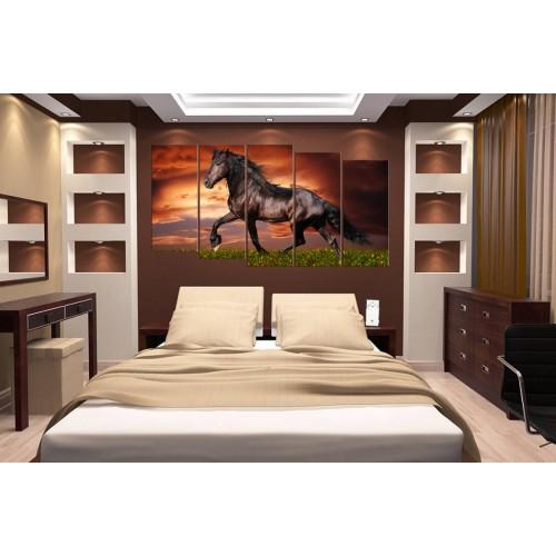Модульная картина Лошади № 6554Ж