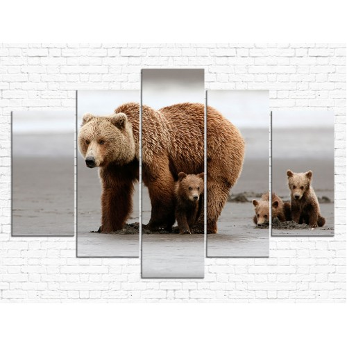 Модульная картина Медведи № 6560Ж