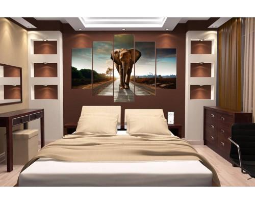 Модульная картина Слон № 680Ж