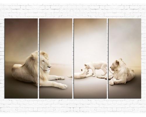 Модульная картина Львы № 628Ж