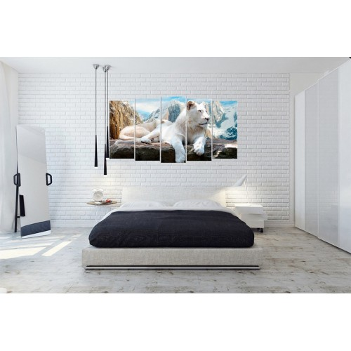 Модульная картина Лев № 6540Ж
