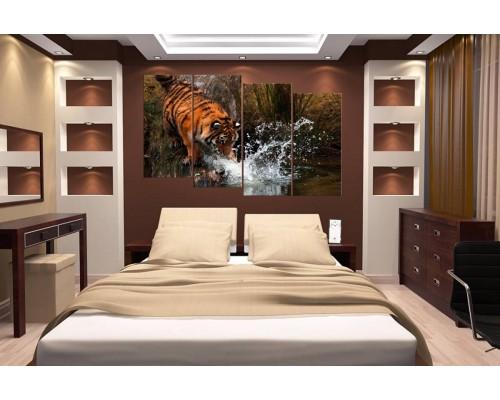 Модульная картина Тигр № 655Ж